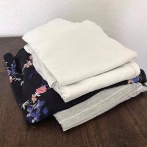 En bunke ammetøj: 1 kjole 2 bluser  3 toppe Størrelse M Hele bunken 125,-