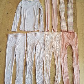 Brugte men meget velholdte leggings og en langærmet bluse. Et par i str. 134/140, 5 par i str. 140/152 og blusen i str. 140.