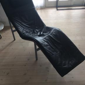 Lækker læder ILVA Chaiselong. 198 cm L