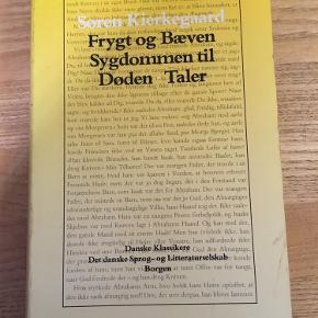 Søren Kierkegaard: frygt og bæven, sygdommen til døden, taler. Borgen 1994 paperback. 70kr Kan hentes kbh v eller sendes for 40kr dao