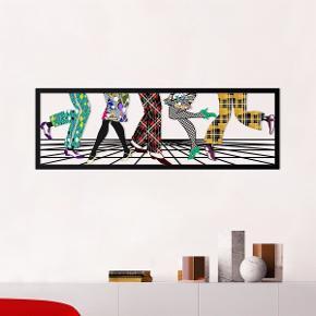 Metal wall art, mål: 35X95cm