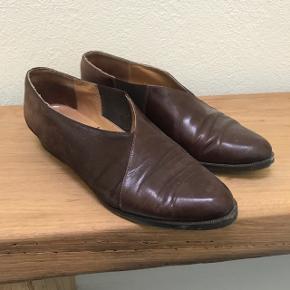 Vintage sko i skind