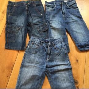 3 par gode shorts. Mrk Benetton og H&M