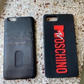 Lædercover med kortholder bagpå  Moschino cover i silikone   Passer til iphone 6-7-8 plus