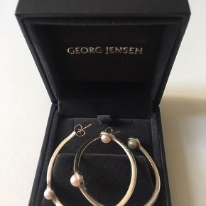 Georg Jensen Sphere øreringe sølv med perler. Sender gerne
