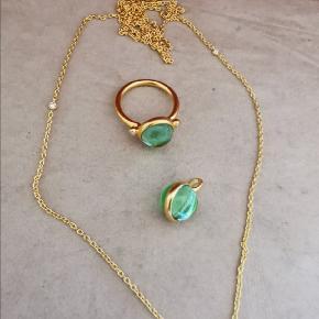 Julie Sandlau Prime Smykkesæt sælges  Ring str 54