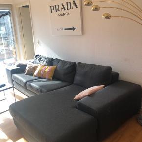 Sofa med chaiselong fra ilva.