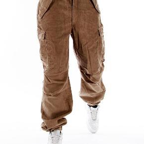 Super fede fløjl Pelle pelle baggy pants størrelse 40 /34