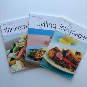Tre skønne kogebøger til sund og lækker mad. Er som nye. Sælges samlet alle tre.
