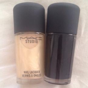 MAC STUDIO - PEARL LIQUID pigmentgold Pearl neglelakker helt ny og ubrugt. MAC - navnet kan ikke ses da neglelakken har den sorte farve i sig.  Brugt en gang. 100 kr for dem begge