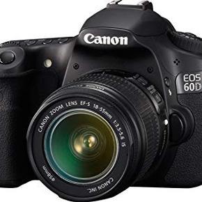 Canon 60D kamera købt i 2012. Taske og objektiv medfølger. Er brugt meget minimalt  Byd endelig  Nypris: 10.000