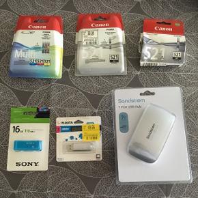 Blandet udstyr til computer, printer osv... BYD på enkelte ting eller samlet pris!