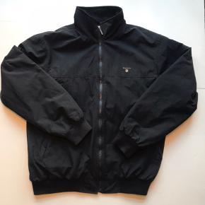 Vintage GANT jakke med fleece foer Sort Str L
