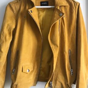 Real suede leather jacket!  Worn max 10 times and never washed it.