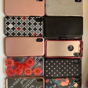 Sælger mine covers  Passer til iphone X/xs   Helst samlet  Hvis der ikke er mulighed for at afhente dem i Kolding. Så kan de sendes med gls samme dag