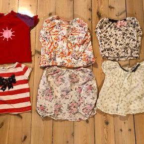 18 stk Sommertøj str 92 1 UV t-shirt mala 1 t-shirt H&M 4 lærredsskjorter (h&m, aya naya, POMPdeLUX)  3 kjoler (bombibitt, me too, wheat)  3 par shorts (H&M) 2 dragter (h&m, zara) 1 par overalls H&M 3 par bukser (H&M, Mads og Mette, Cecilie westh)