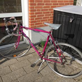Rigtig god cykel som er i pæn stand14 gear (Skal muligvis have 2 nye dæk) Mål på dæk: 700x20C Sælges kun fordi jeg ikke bruger den.
