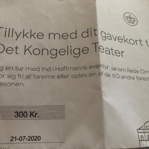 Gavekort til det Kongelige Teater på 300kr.