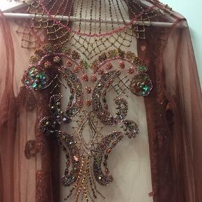 Så smuk Håndlavet med mange perler og palietter!!  Str M/L  BYD BYD BYD
