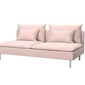 Light pink covers for Söderhamn 3-person sofa. Covers only tried on.