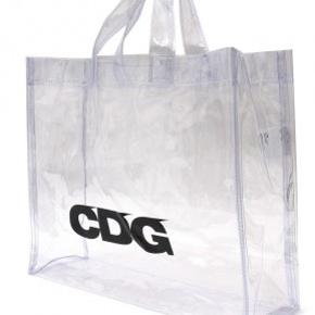 CDG TRANSPARENT TOTE BAG  NEVER USED. 10/10 IN CONDITION.  ACNE, CELINE, BAPE, SUPREME, OFF WHITE, YEEZY, GANNI, WOOD WOOD