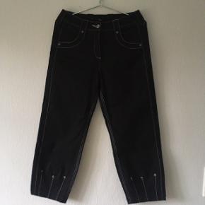 Nye mega fede sorte bukser m. visible stitch.