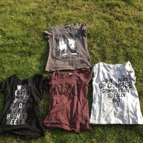 Sælger de her seje t-shirts da jeg ikke får dem brugt. De tre nederste er fra mærket Jacqueline De Yong. Den øverste er fra mærket Energetics. De er aldrig blevet brugt og der er ingen tegn på slid. Skriv hvis i er intra.  BYD gerne!
