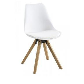 4 stk Luna spisebordsstole fra ILVA..  Stolene har været dækket med skind, derfor fremstår de som helt nye.   Se mål på billede 2.  Ny pris: 449 kr pr stk