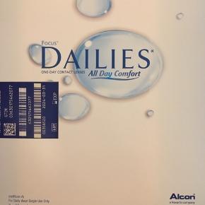 Kontaktlinser endags  Focus Dailies all day comfort linser Styrke -1,75  2 x 90 stk (3 mdr forbrug)