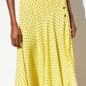 Zara yellow polka dot midi skirt str.M ubrugt stadig med mærke