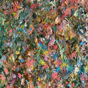 Flot og dekorativt maleri af Janus Bjerknes i 60x80.