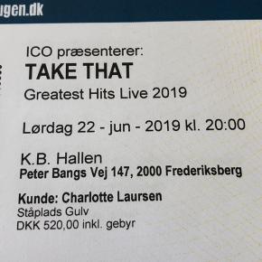 2 stk. koncertbilletter til TAKE THAT Greatest Hits Live i K.B. Hallen lørdag 22/6 2019 kl. 20.