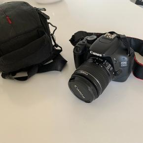 Canon spejlrefleks kamera EOS 550D Taske + linse medfølger  BYD 😄