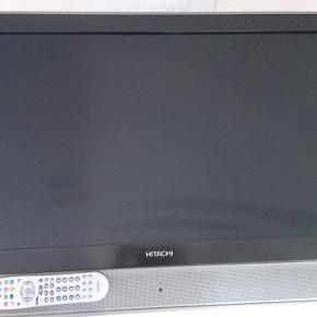 Mærket; Hitachi,  Rigtig fint og velfungerende fjernsyn. Måler H: 64 cm B: 92,5 cm D: 10 cm. Skærmen måler 46 x 82 cm.  Har været brugt både til alm. tv og PlayStation. Der er div stik, samt fjernbetjening.