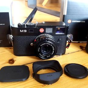 "I'm selling the Leica M9 black rangefinder camera with the Leica Summicron-M 35mm F2.0 ASPH black lens. This camera needs no introduction. Ken Rockwell calls it ""(...)the smallest, lightest, highest-quality digital camera ever created by the hand of Man.(...)"".  As for the lens: ""(...)is about as close to perfect as you can get. It offers unbeaten optical performance, perfect ergonomics, and it's half the size of any other 35mm lens.(...)""."
