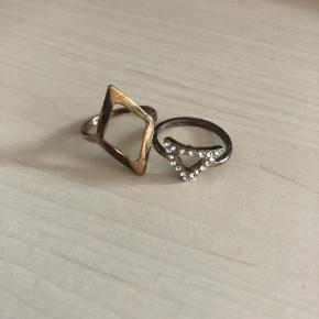 Smukke ringe,  Aldrig brugt før, og kan sendes med postnord brev for 10 kr