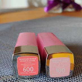 Rimmel moisture renew sheer & shine lipstick  Shades: 100 woke up like this 600 spin all spring  Two for 50kr.  Pickup: Vesterport / Main st / Ørestad or shipping at the buyer's expense.