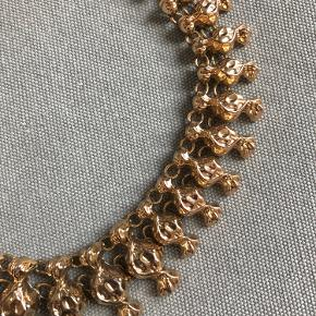 Zara chunky gold necklace with candy details. Worn a few times so there are some small scratches, but it's still in good condition.