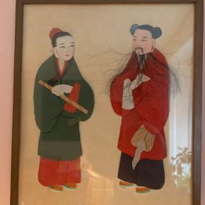 Kinesisk vintage billede. Lavet af tekstiler, så billedet får en 3D effekt.