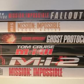Mission Impossiblr 1 2 3 4 5 6 Dansk tekst Sælges samlet