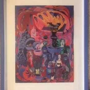 3 originale gel prints af Ida Kvetny med træramme 39x48cm http://kvetny.dk/ Pris for en 2000kr Pris for alle 4000kr