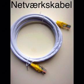 Internetkabel: Cable EEKSONG ethernet cable E354598 RJ 2835 AWM 30 volt VW1 24AWG.  2 meter.  Plus porto.  Bytter ikke.