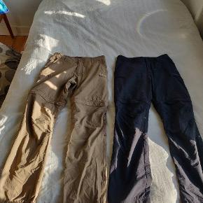 To par Bergans Zip-off pants, der er gået med 1-2 gange. Begge par kan købes for 700.