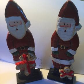2 stk julemænd i træCa 15 cm Samlet pris