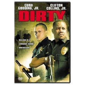 Brand: Dirty - DK tekst Varetype: dvd Størrelse: - Farve: -  En rå og brutal historie om et døgn i et tidligere bandemedlems og nuværende strømers liv, hvor han tvinges til at vælge mellem sin samvittighed og sin loyalitet over for politiets uskrevne love. På grund af sin fortid som bandemedlem bliver den 28-årige Armando Sancho (Clifton Collins Jr.) rekrutteret til en selvstyrende undercoverstyrke, som skal forsøge at dæmpe gemytterne på LA´s gader. Han og hans makker Salim Adel (Cuba Gooding Jr.) patruljerer og holder orden på den eneste måde, de kan - med meget fast hånd. Men der er ikke noget farligere end en gangster med politiskilt, og da de to makkere kommer i ildkamp, er det kun den ene, der overlever . Spilletid: 97 minutter Produktionsår: 2005