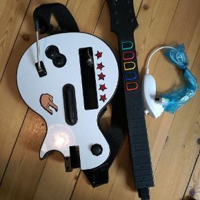 Wii guitar hero guitar + andet tilbehør. Fejler intet men guitaren er brugt.  Byd gerne  Kig også gerne i andre annoncer, mængderabat gives. Sendes gerne, køber betaler porto 😊 Afhentning i KBH NV.