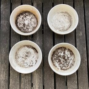 4 underpotter / underskål til Egernsund Grønland Potter   Sælges samlet.   (Potten på sidste billede medfølger ikke. Det er kun de 4 underpotter)
