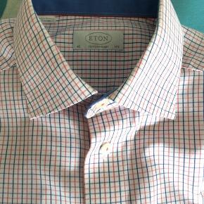 Eton skjorte,strygefri og 100% bomuld