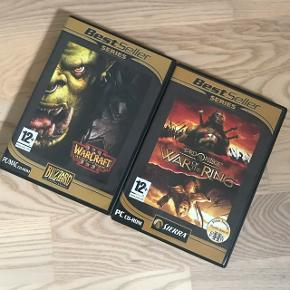 Computerspil til PC- Warcraft 3: Reign of Chaos - The Lord of the Rings: War of the ring  1 for 25kr - begge for 40kr
