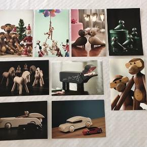 Kay Bojesen billeder / kort str. 13 x 18,9 cm.   Sælges for 25 kr. pr. stk.   Kan sendes. Porto afhænger af antal/vægt.